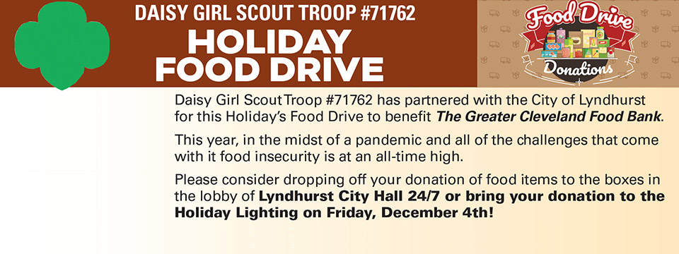Holiday Food Drive flier.