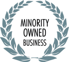 Minority-Owned business logo.