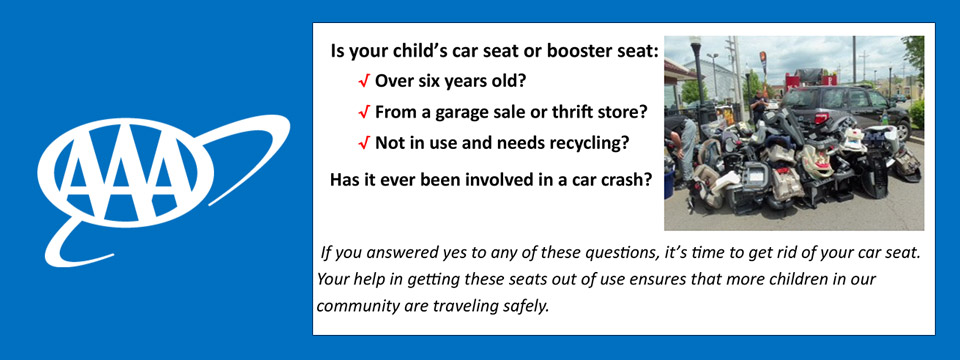 Bring Your Old Car Seats to Car Seat Roundup Day Sponsored by AAA Lyndhurst (12PM - 3PM) August 9th 2019 - City of Lyndhurst, Ohio