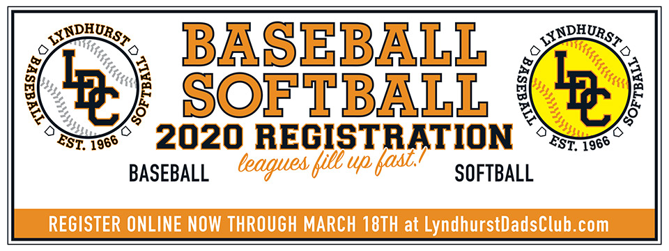 Lyndhurst Dads' Club 2021 Baseball Softball Registration Through May 31st 2021 - City of Lyndhurst, Ohio