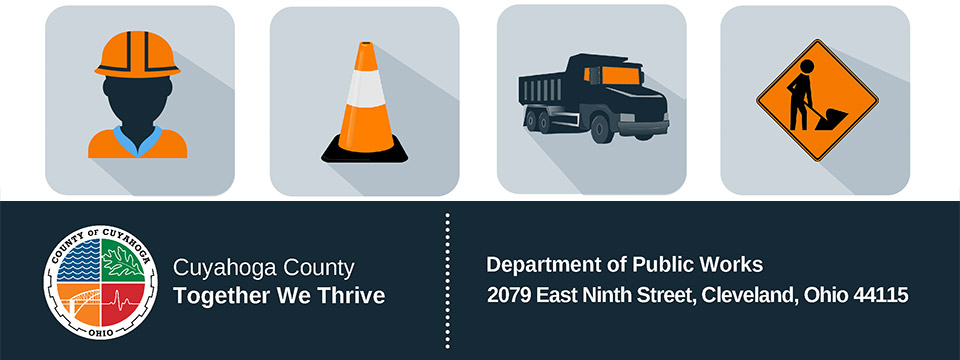 Cuyahoga County Department of Public Works header.
