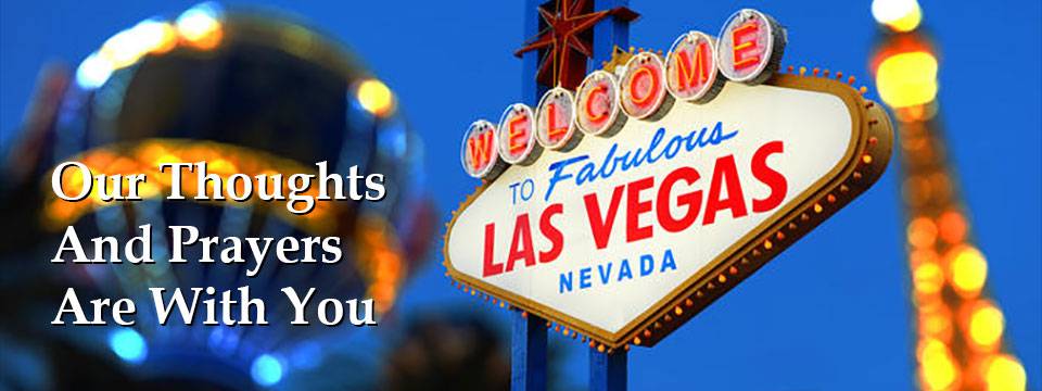 Our Thoughts And Prayers Are With You Las Vegas, Nevada - City of Lyndhurst, Ohio