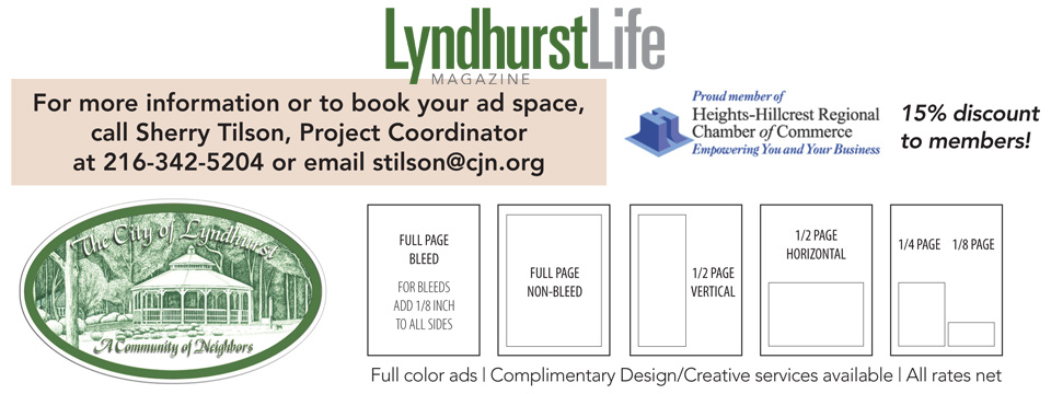 Lyndhurst Life Magazine Ad Rates: Publishing the Week of August 15th 2016. Ad Space Deadline: July 11th 2016 - City of Lyndhurst, Ohio
