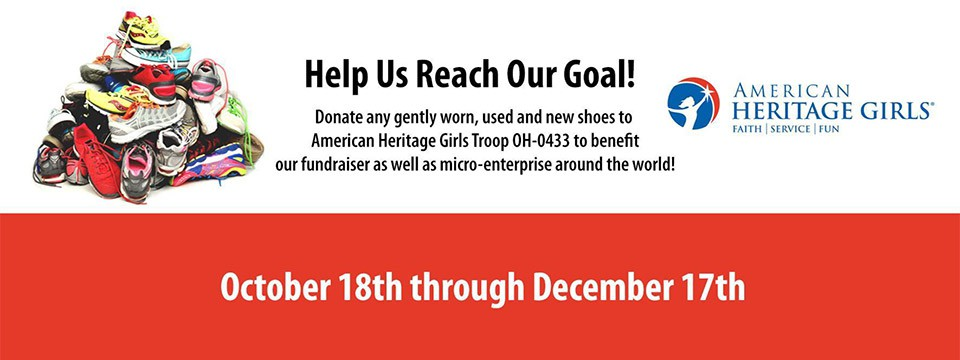American Heritage Girls Collecting Gently Worn Shoes