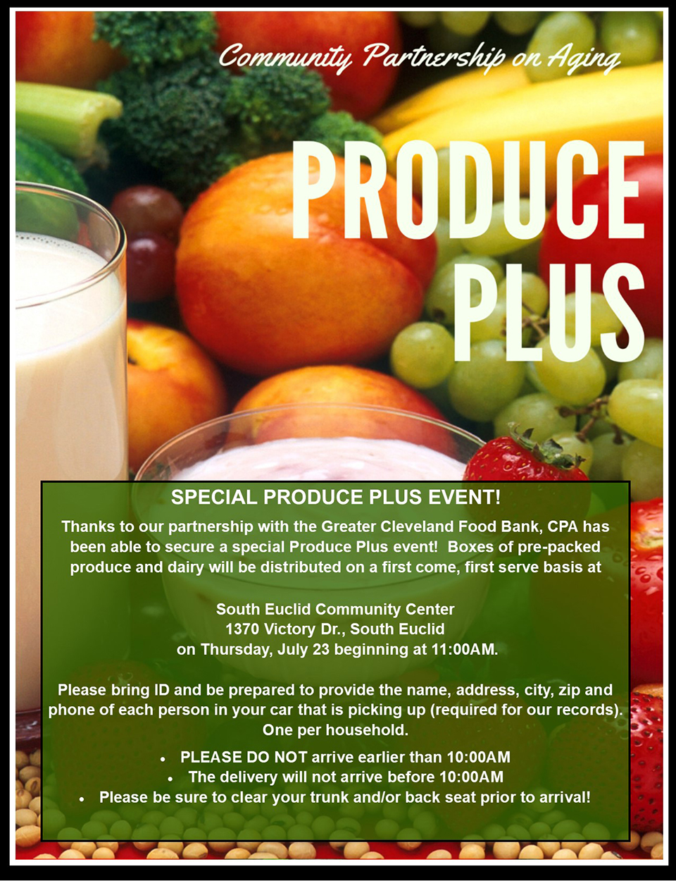 CPA Special Produce Plus Event flier.