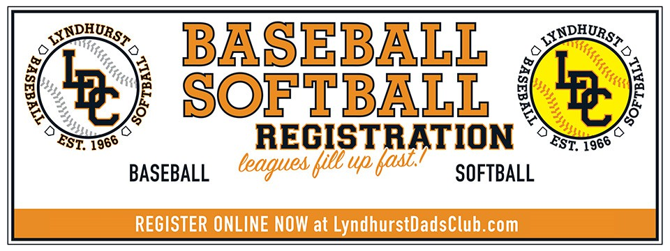 Lyndhurst Dads' Club 2021 Baseball Softball Registration
