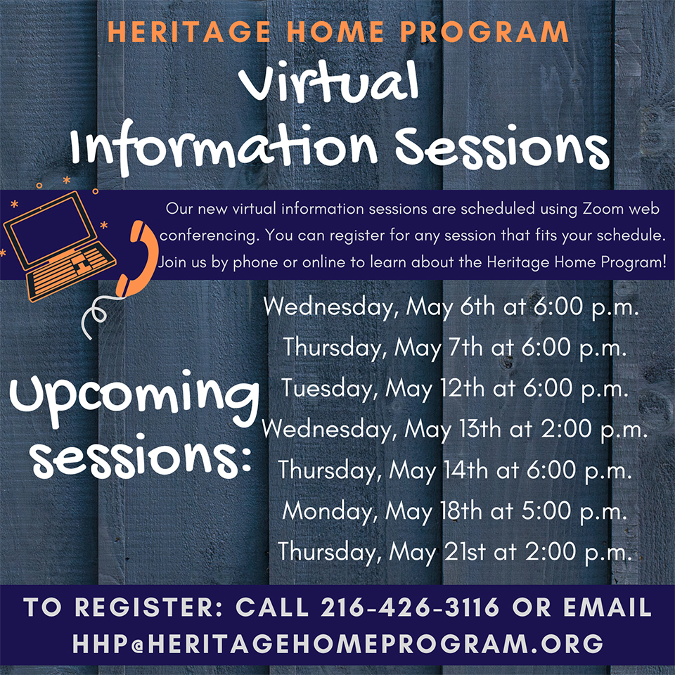 Heritage Home Program flier.