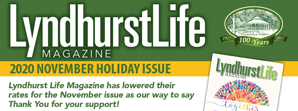Lyndhurst Life Magazine November 2020 Holiday Issue Rate Card