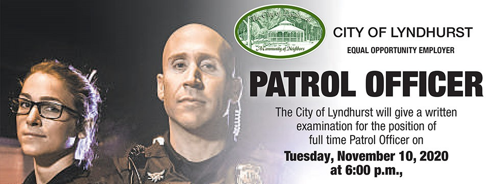 City of Lyndhurst, Ohio Full Time Patrol Officer Exam