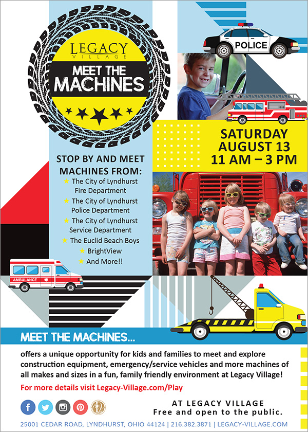 Legacy Village Presents: Meet The Machines August 13th 2016 - CANCELLED - City of Lyndhurst, Ohio