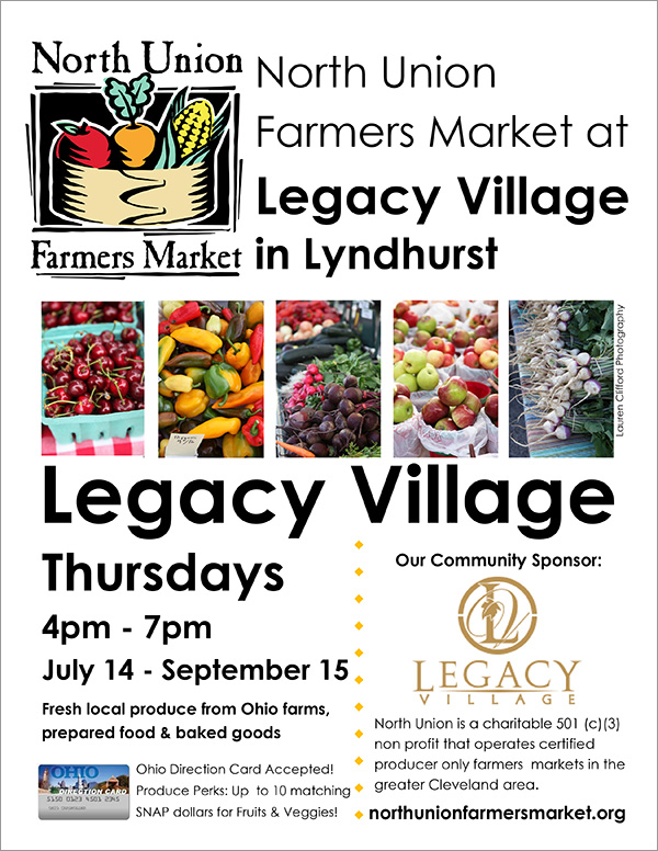 North Union Farmers Market at Legacy Village in Lyndhurst - City of Lyndhurst, Ohio
