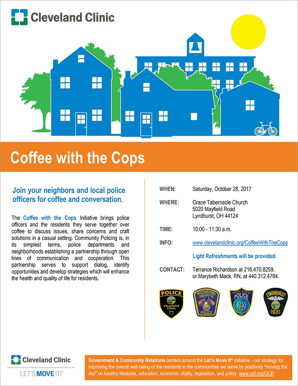Cleveland Clinic Presents: Coffee with the Cops - October 28th 2017 - City of Lyndhurst, Ohio