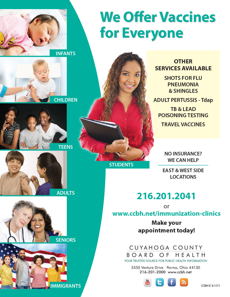 Cuyahoga County Board of Health - We Offer Vaccines for Everyone - City of Lyndhurst, Ohio