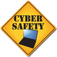 Photo of a Cyber Safety Sign.