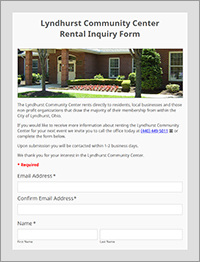 Lyndhurst Community Center Rental Inquiry Form - City of Lyndhurst, Ohio