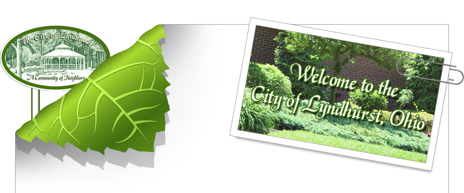 Website header graphic with city logo.